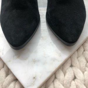 Michael Kors Shoes - Michael Kors Black Suede Heeled Ankle Boots